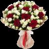 """Фото товара Букет """"Красная роза, белый спрей"""" в Мариуполе"""