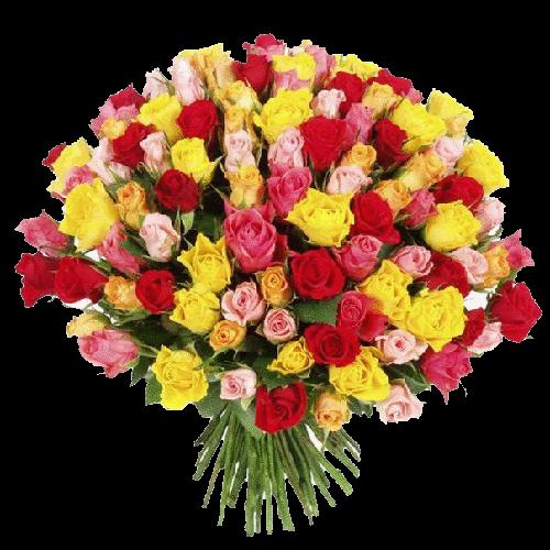 Фото товара 101 разноцветная роза в Мариуполе