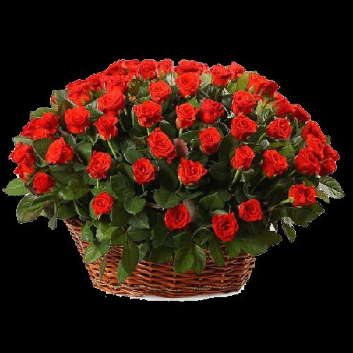 "Фото товара 101 роза ""El Toro"" в корзине в Мариуполе"