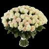 Фото товара 101 бело-кремовая роза в Мариуполе
