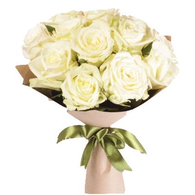 Фото товара 11 белых роз в Мариуполе