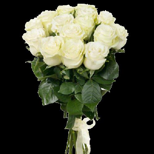 Фото товара 15 белых роз в Мариуполе
