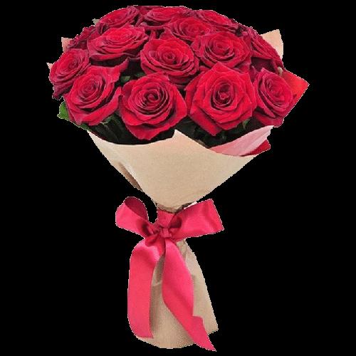 Фото товара 15 красных роз в Мариуполе