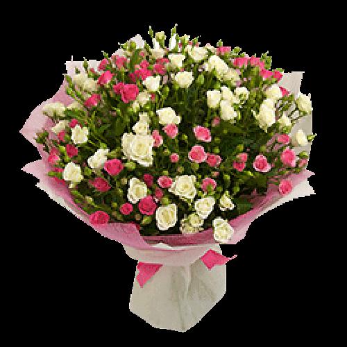 Фото товара 21 кустовая роза в Мариуполе