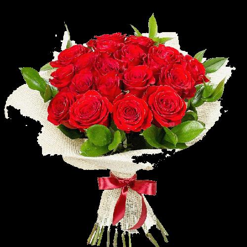 Фото товара 21 красная роза в Мариуполе