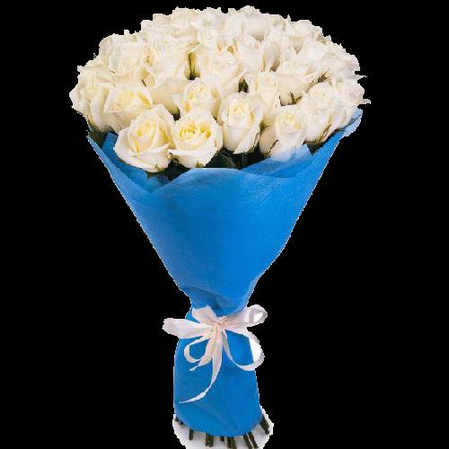 Фото товара 33 белые розы в Мариуполе