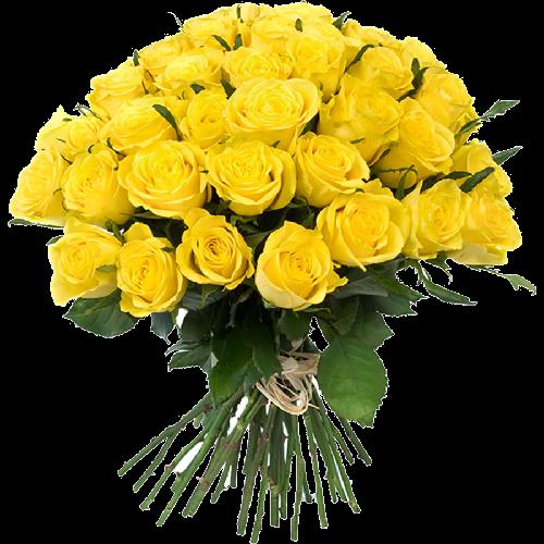 Фото товара 33 желтые розы в Мариуполе