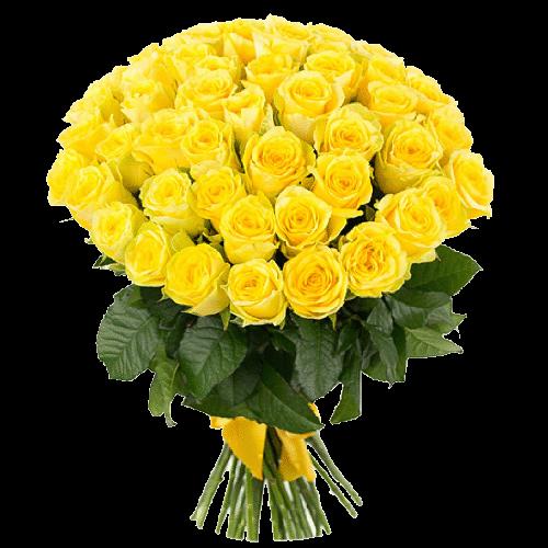 Фото товара 51 желтая роза в Мариуполе