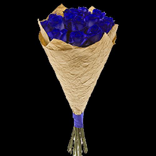 Фото товара 7 синих роз (крашеные) в Мариуполе