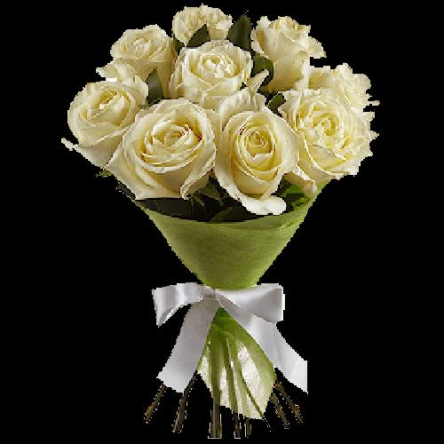 Фото товара 9 белых роз в Мариуполе