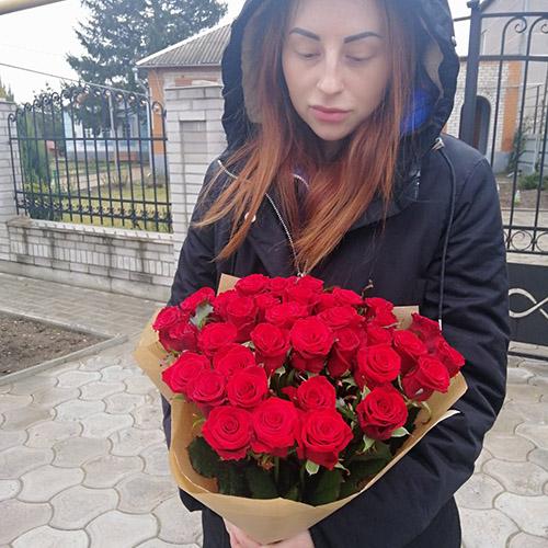 Фото товара 25 красных роз